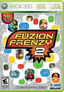 Fuzion-Frenzy-2-Party-Game-Microsoft-Xbox-360-Tested-Complete-CIB-40-mini-games