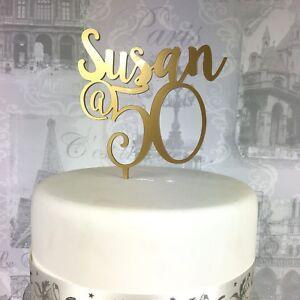 Image Is Loading Acrylic Birthday Cake Topper Custom Age Amp Name
