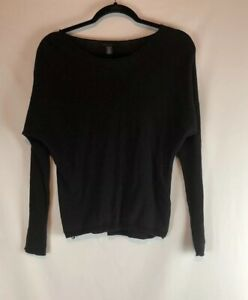 Kenneth-Cole-Women-s-Pullover-Sweater-Black-Long-Sleeve-Size-Small