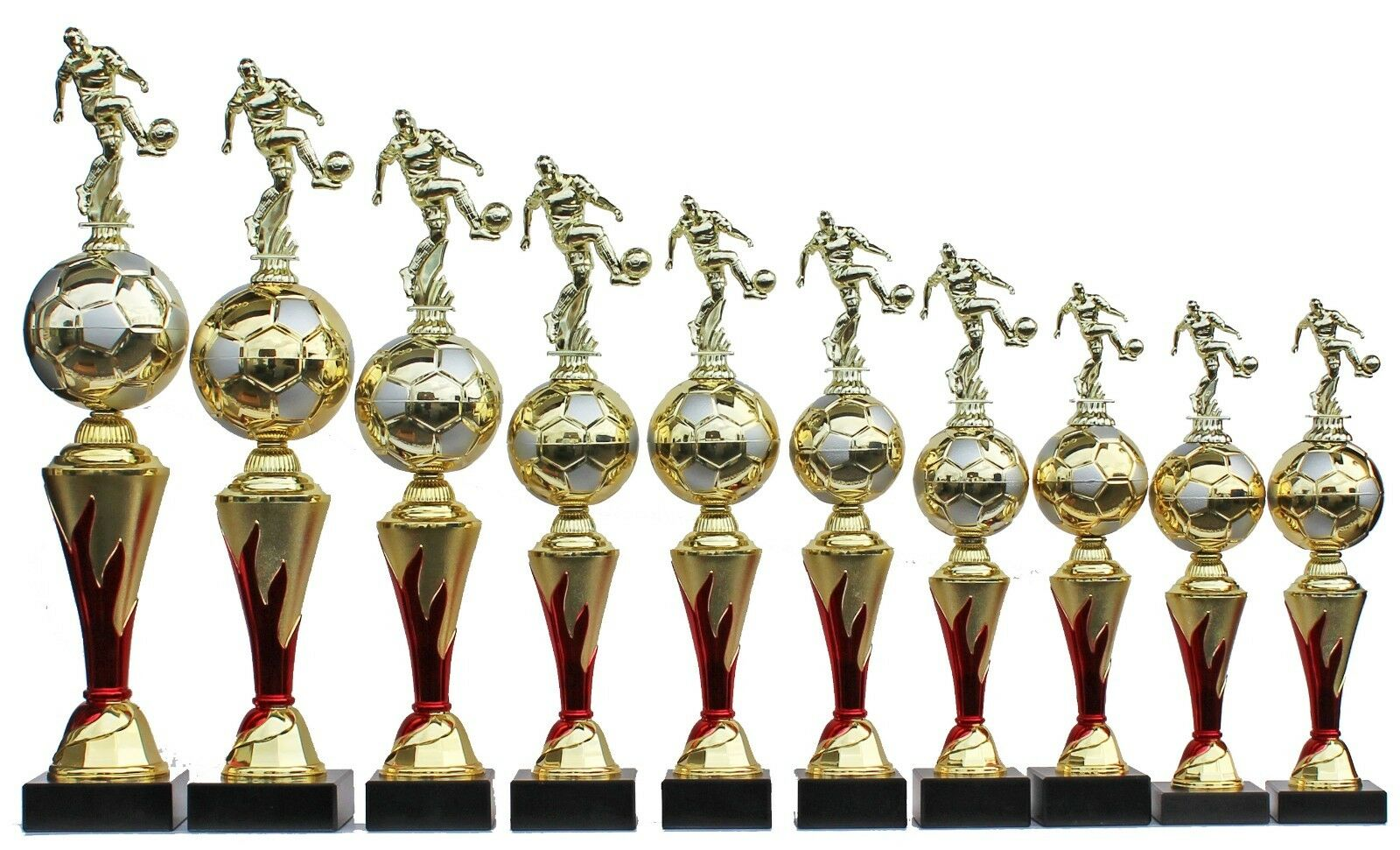 10er-serie trofeo trofeos fútbol figuras  on fire 2.0  incl. gravures