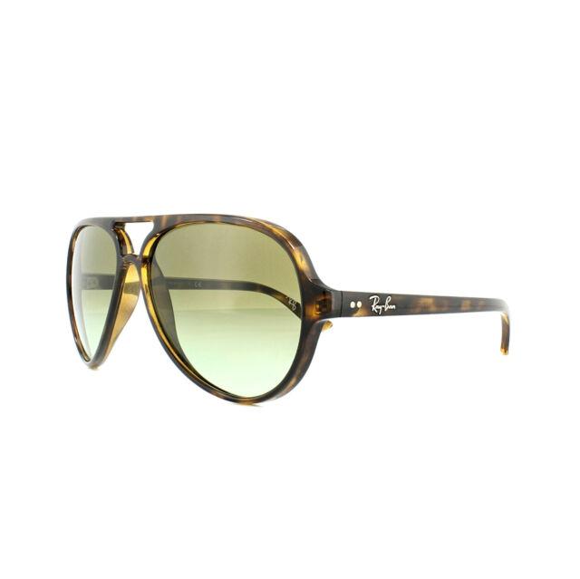 7a273c01b9 Ray-Ban Cats 5000 RB 4125 710/a6 Havana Plastic Sunglasses Green ...