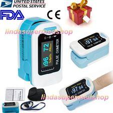 CONTEC OLED Fingertip oxymeter spo2 PR monitor Blood Oxygen Pulse oximeter+Pouch