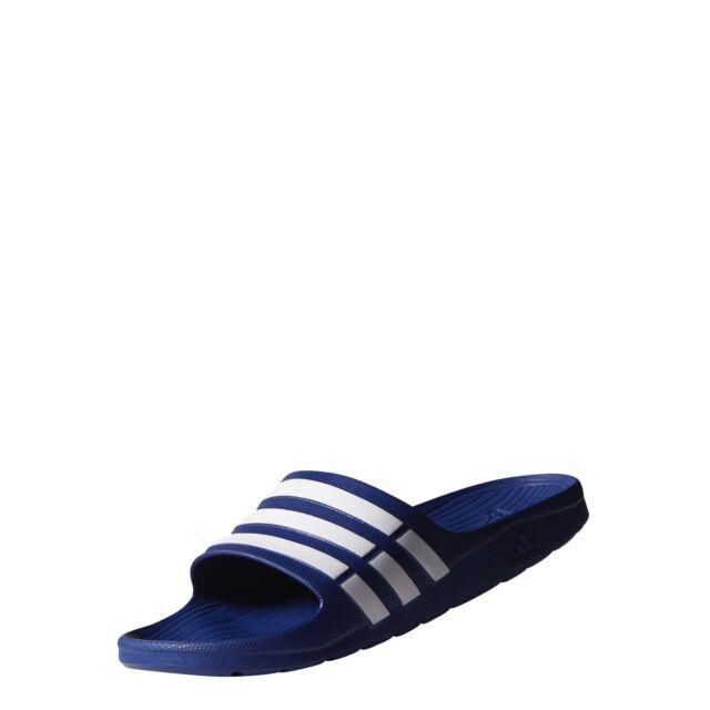 size 40 51f03 bee8d Adidas Duramo Slide Chanclas Sandalias Azul de los HombresBlanco