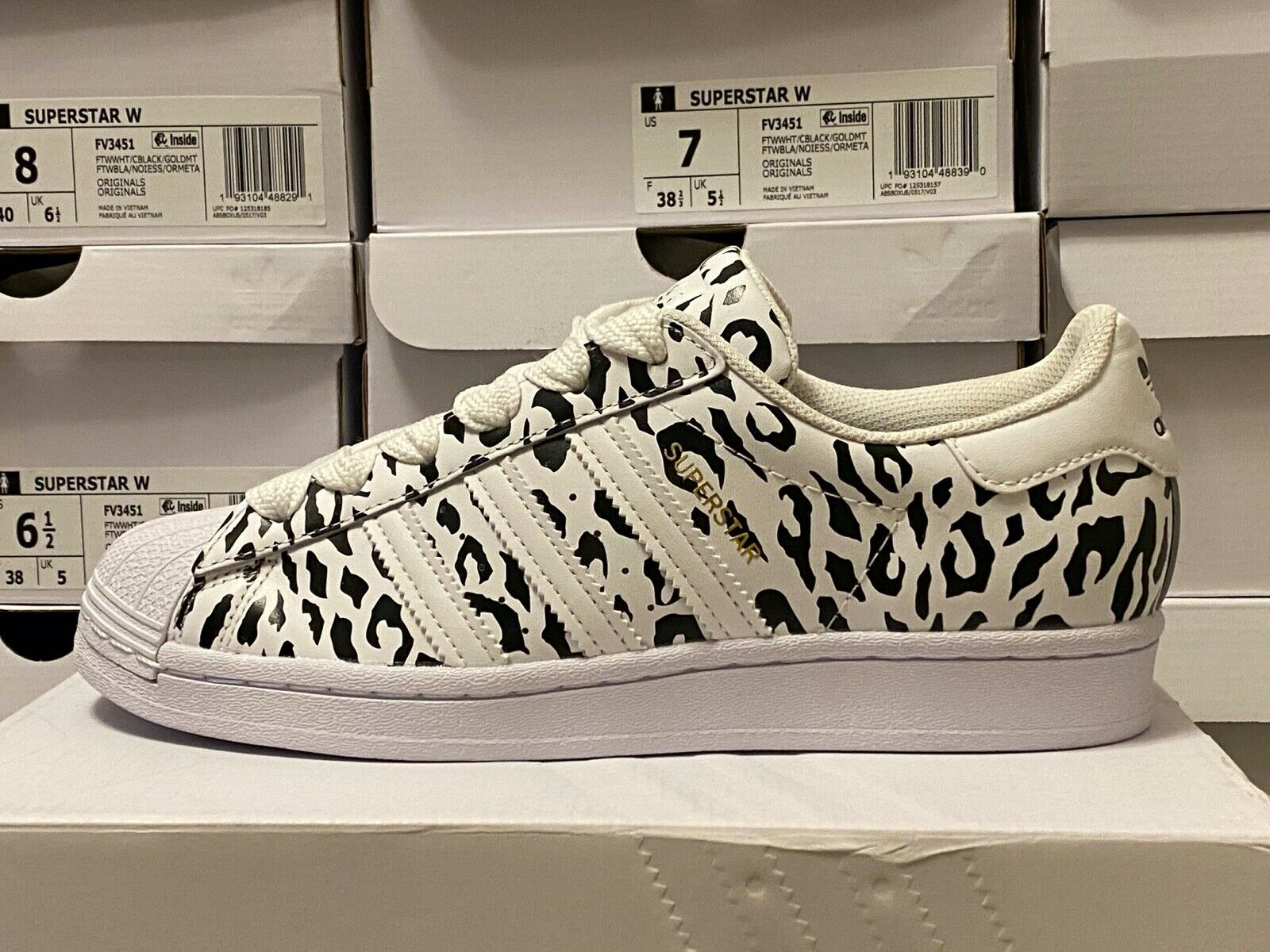 Size 6.5 - adidas Superstar Cheetah Print 2020 for sale online | eBay