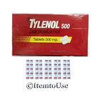TYLENOL Paracetamol 500 mg fever reduce Pain Reliever 50 caplets