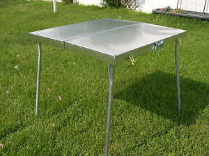 all metal deluxe folding camp table tent camping riley stoves ebay