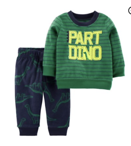 Baby Boy Fleece Dinosaur Outfit Pants /& Shirt NWT Carters COM 3 6 9 12 18