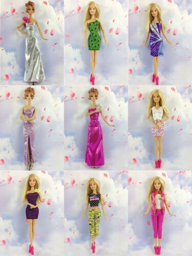15 items= 5 Lovely Fashion Clothes//Outfit//Dress 10 shoes For 11.5in.Doll New