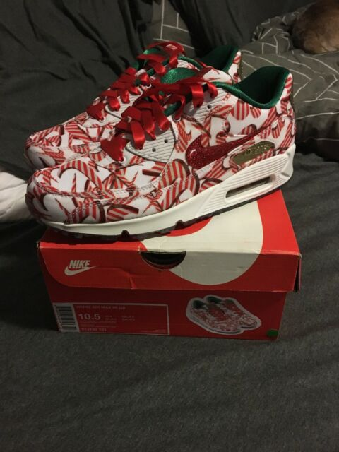 Nike Air Max 90 QS Christmas shoes Candy Cane Womens Size 10.5