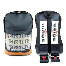 JDM Bride Racing Backpack with Racing Harness Shoulder Straps Super Cool BLK/BR
