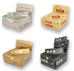 OCB King Size Slim Premium Papers Organic Hemp Gold Black XPert - FREE POST