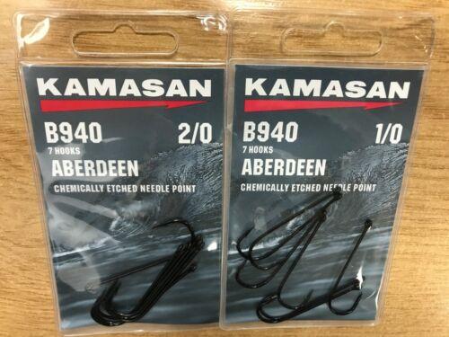 2 Packs de KAMASAN B940 Aberdeen Mer Pêche Crochets 1//0 ou 2//0