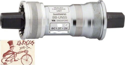 SHIMANO UN55 68 X 107 MM SEALED BEARING JIS SQUARE TAPER BICYCLE BOTTOM BRACKET