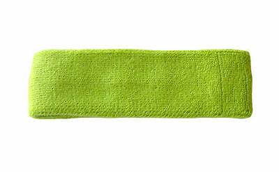 LIME GREEN SPORTS QUALITY SWEAT HEAD BAND HEADBAND