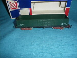 973A-Jouef-France-Ref-6500-Wagon-Tombereau-99480-Vert-Bogies-SNCF-Ho-1-87