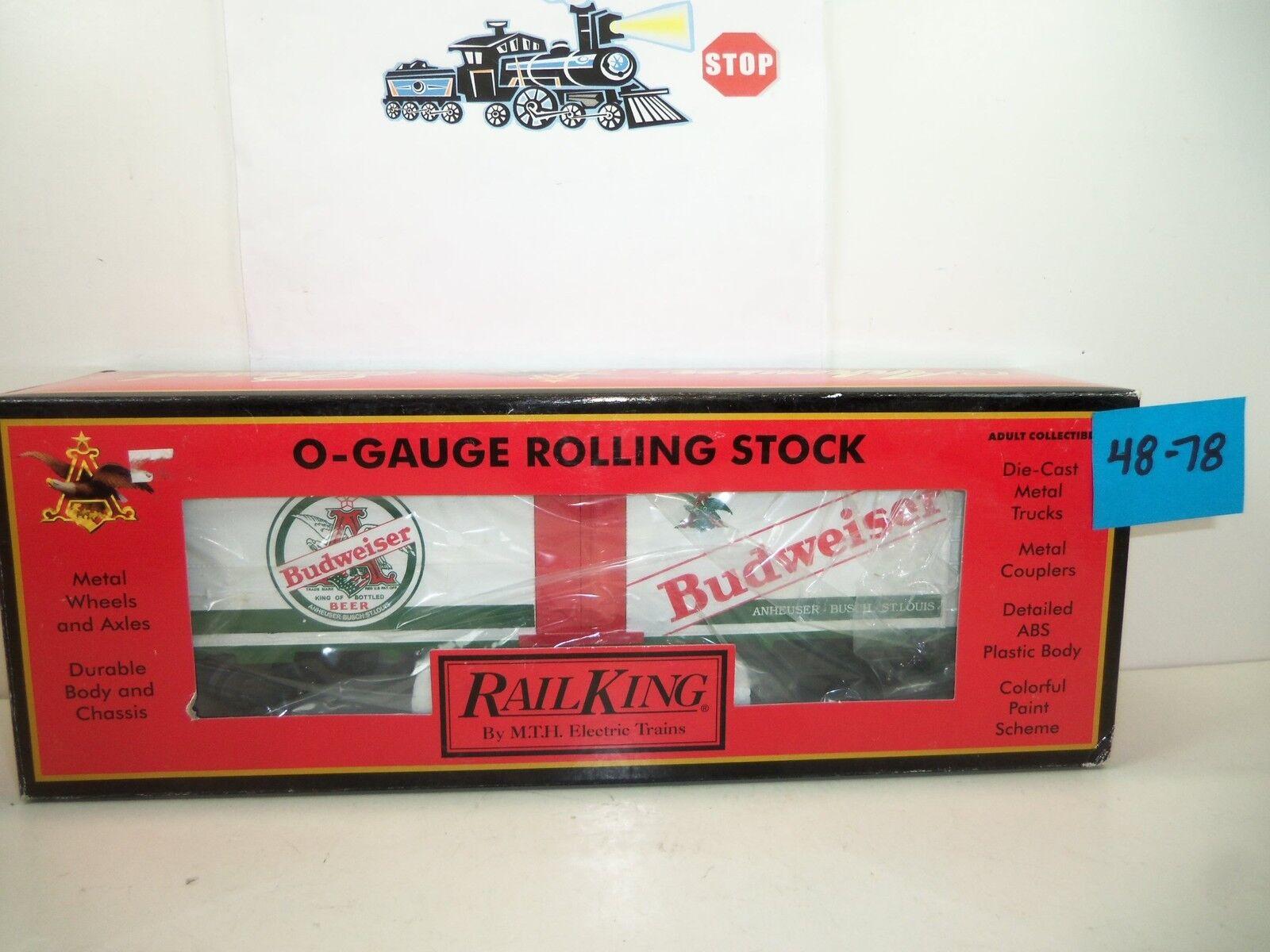 Rail King Anheuser-Busch-Budweiser Reefer Car NOS  48-78