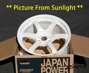 Rays-Gram-Lights-57DR-Ceramic-Pearl-White-Wheel-Rim-18-034-18x9-5-38-5x100-22lbs