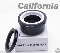 Adjustable M42 Lens to Micro 4/3 M4/3 adapter E-P1 E-P2 G1 GF1 GH1 + Screwdriver