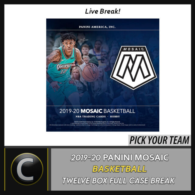 2019-20 PANINI MOSAIC BASKETBALL 12 BOX (FULL CASE) BREAK #B427 - PICK YOUR TEAM