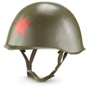 Red-Star-Helmet-Russian-Military-Surplus-Issue-Collectible-Decor-Display-Adjust