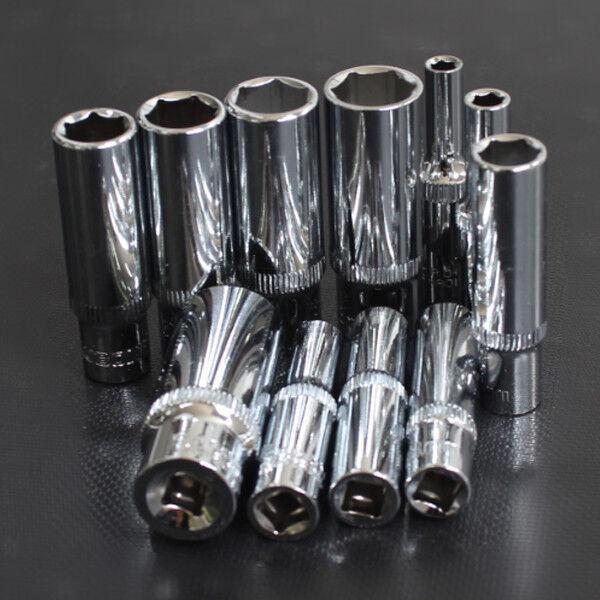 1 4  3 8  1 2  Laufwerk Lange Buchse 4  32 mm Metrisch MM Chrome Master