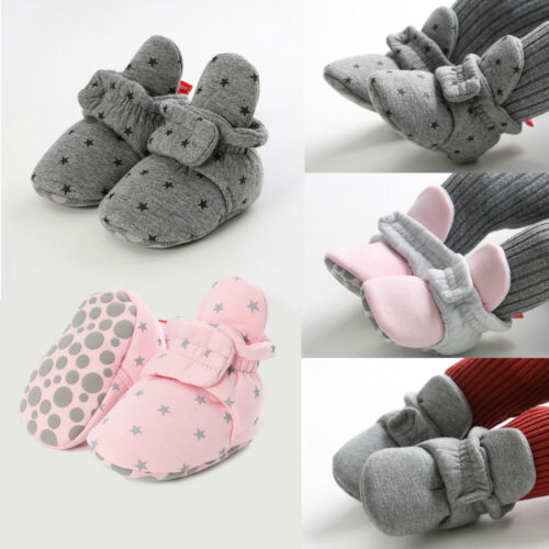Baby Socks Shoes First Walkers Booties Cotton Anti-slip Warm Infant Crib Shoes·