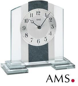 AMS-Horloge-de-table-38-quartz-elegante-bureau-Montre-Watch-pendulette-994