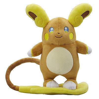 Original Pokemon Center Alola Raichu Plush Doll NEWEST Gift