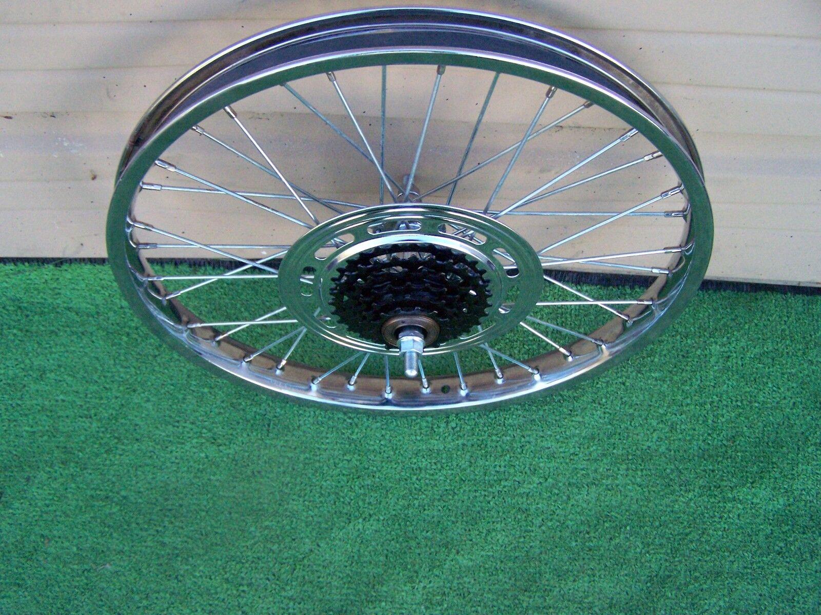 BICYCLE  WHEEL 20  X 2.125 W 5 SPEED F W FITS VNTG SCHWINN KRATE & OTHERS  perfect
