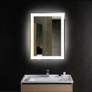 Bathroom Led Lights Dimmable led lights wall mounted bathroom lighted mirror vanity dimmable w
