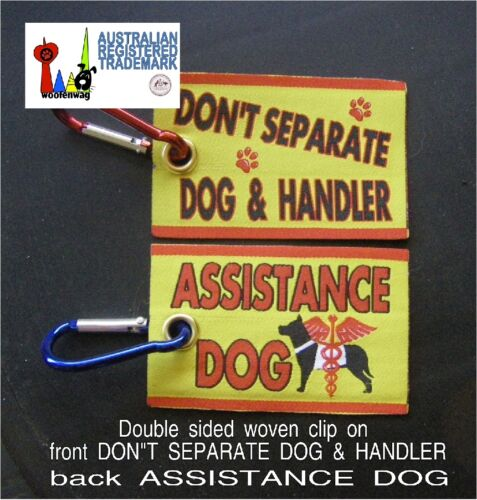 NEW assistance dog WOVEN Service Dog  clip on