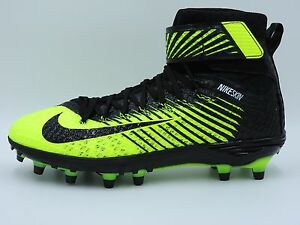Nike Force Lunarbeast Elite TD Football Cleats 779422-007,Volt Black,Men's  8-13