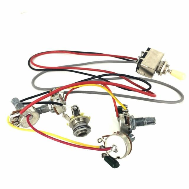 wiring harness 3 way toggle switch 2v2t 500k pots jack les paul lp rh ebay com Gibson Wiring Harness 59 Les Paul Wiring