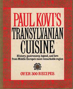 Transylvanian-Cookbook-300-recipes-Cuisine-1985-Paul-Kovi-039-s-1st-Edit-Hard-Cover