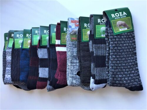 12 Pairs Thick Mens Chunky Wool Work Hiking Boot Socks Warm uk Size 6-11 SNVLR