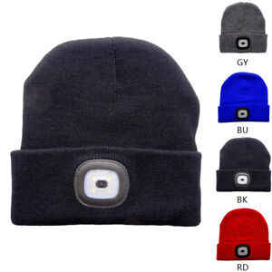 Unisex Warm LED Light Luminous Knit Wool Beanie Cap Outdoor Charge ... 4825dc6cf33