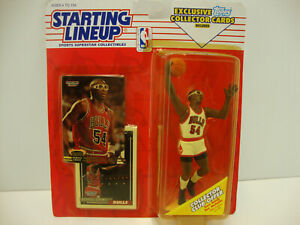 1993 Horace Grant Chicago Bulls Starting Lineup including 2 Trading Cards