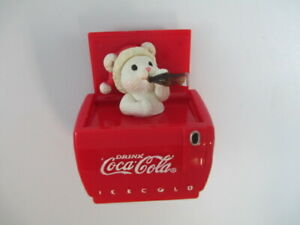 Enesco Coca-Cola Holiday Christmas Ornament Mouse In Cooler Cool Yule NOS