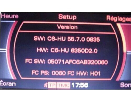 AUDI MMI 2G alta actualización de software 5570 A4//A5//A6//A8//Q7