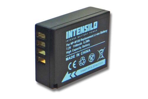 Original intensilo ® batería 1.140mah para Fuji Fujifilm finepix np-w126
