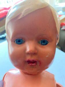 Vintage-20s-German-Celluloid-Schildkrot-Turtle-Mark-Baby-Doll-Glass-Blue-Eyes