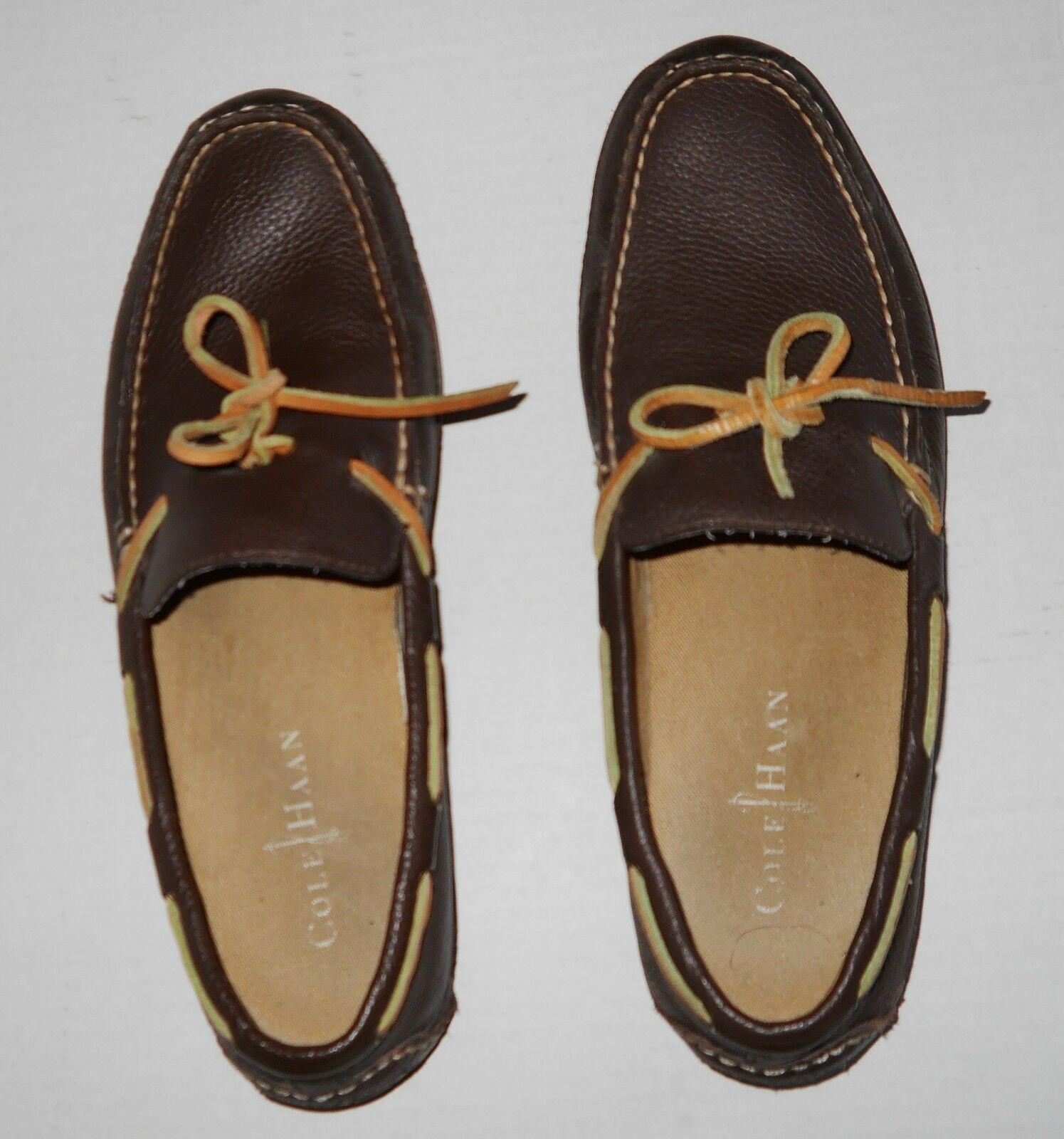 Cole Haan shoes Leather Boat Driving Moc Loafer Brown Ties  8M