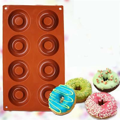 New Silicone Baking Donut Doughnut Cake Chocolate Mold Mould Pan Kitchen Tool -Q