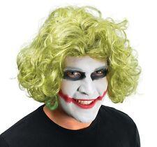 Peluca Verde Mad Hombre Joker Batman Caballero de la noche Villano Fancy Dress Accesorio P5475