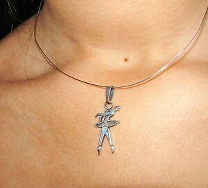 danseuse moderne pendentif argent sterling silver ballet modern dancer charm