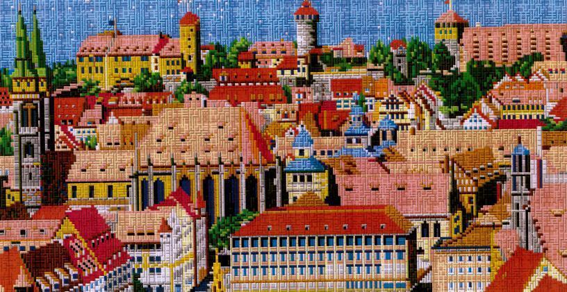 Mini Mini Mini Stecksystem Stadt Nürnberg XXL-Motiv ca. 13.000 Teile mit XXL-Steckvorlage fa9f1e