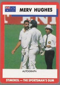 1990 Stimorol Cricket Card -  Merv Hughes