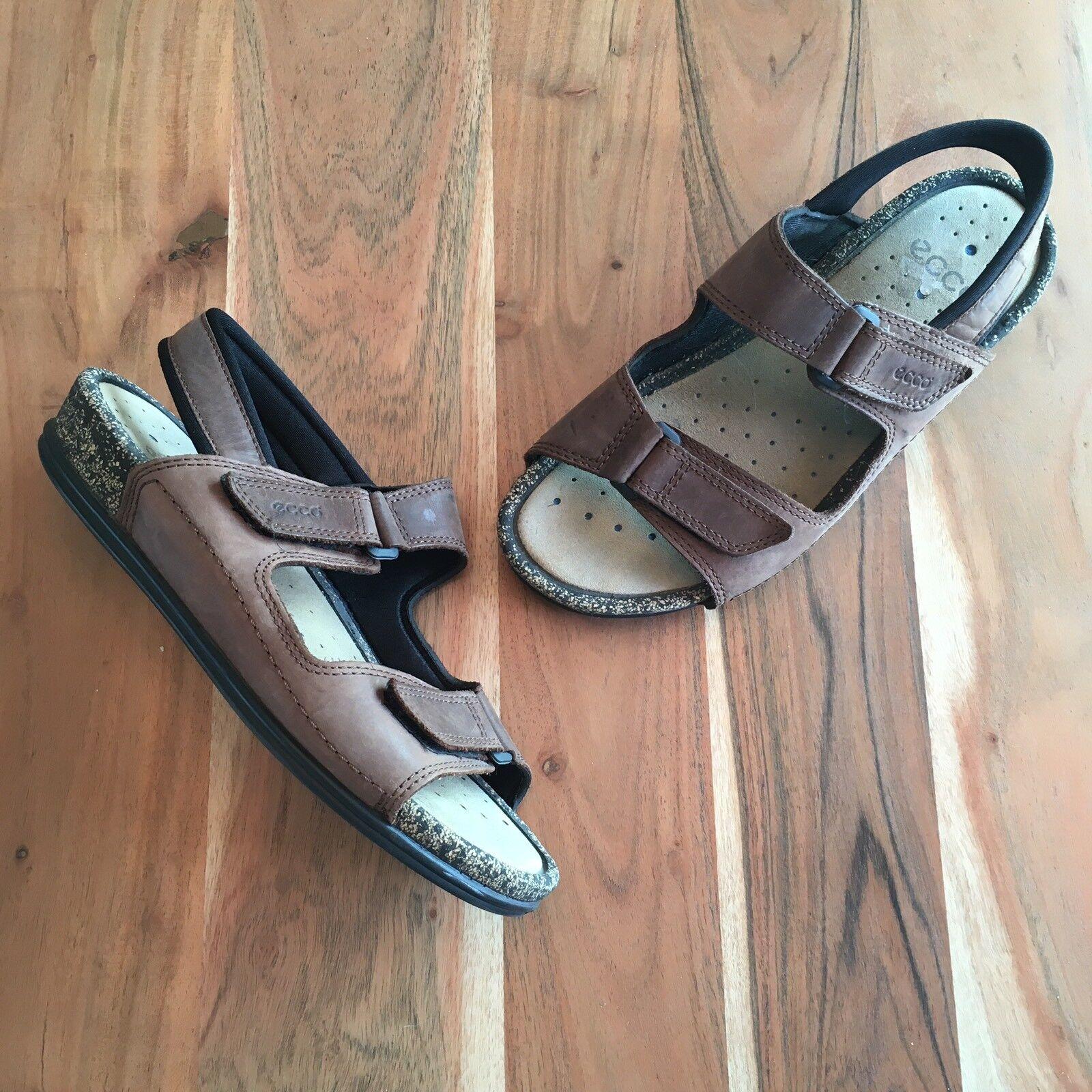 Ecco 3 de cuero marrón-Correa Comfort Sandalias De Mujer Sz Sz Sz 42 US 11-11.5  ventas en línea de venta