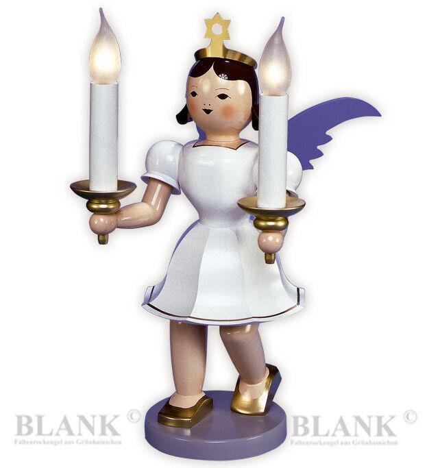 DEKO-Engel mit Kerzen elektrisch Großfigur 50cm bunt Blank Erzgebirge Dekoengel
