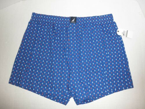 NWT Mens NAUTICA  Cotton Boxer Shorts Underwear M L XL Blk Red Blue